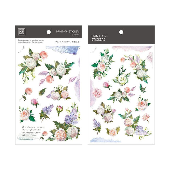 [NEW] Mu Craft Print-On Sticker // White Roses