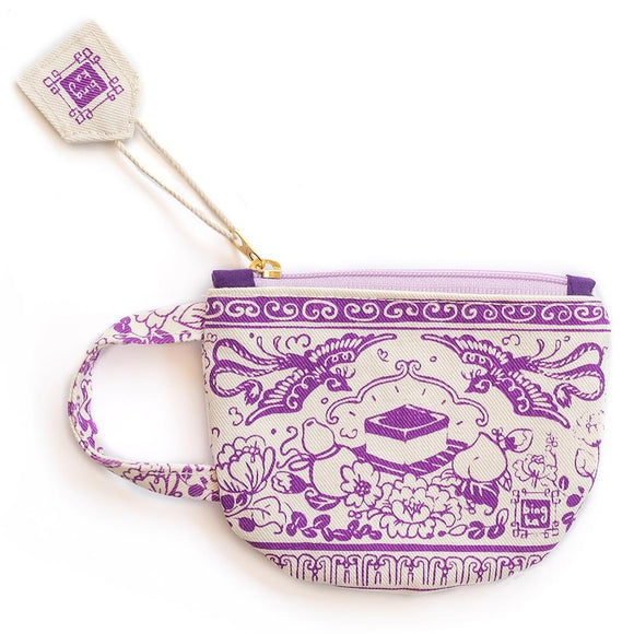 Bingka Purple Tea Cup Coin Pouch