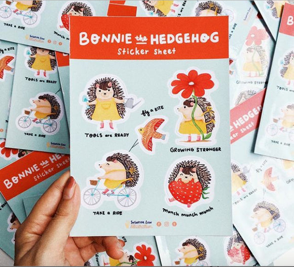 Bonnie the Hedgehog Sticker Sheet