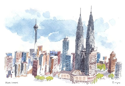 KL Skyline Postcard / 1