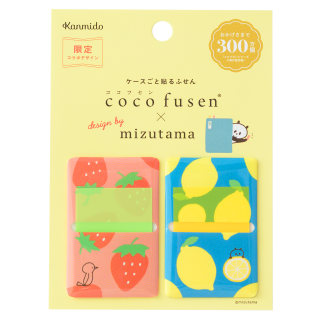 coco fusen x mizutama Sticky Note: Strawberry & Lemon