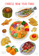 Load image into Gallery viewer, Chinese New Year Food Stickers