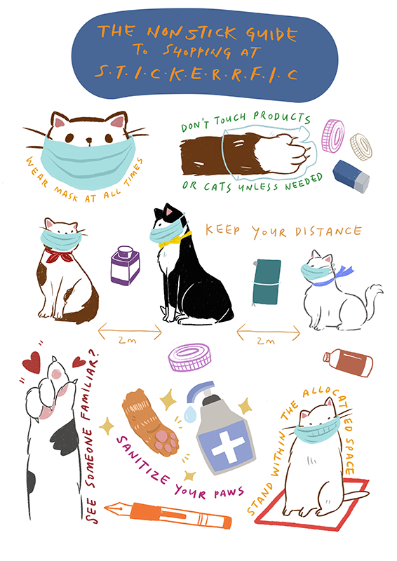 Social Distancing with Stickerrific Stickers