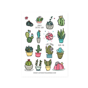 Flint and Steel Stickers / Cactus