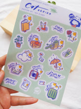 Load image into Gallery viewer, Ink Diary Sticker Sheet | Cats