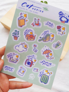 Ink Diary Sticker Sheet | Cats