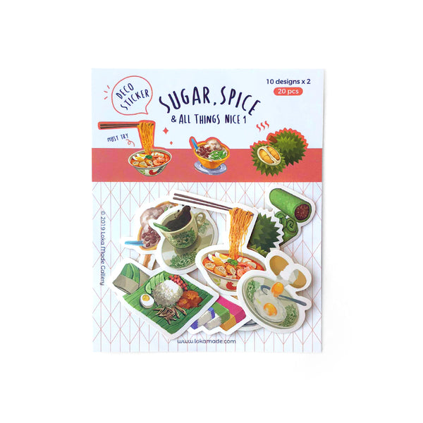 Malaysia Series Stickers: Sugar, Spice & All Things Nice (I)