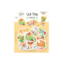 Load image into Gallery viewer, Loka Made Flake Sticker: Tea Time Fantasy