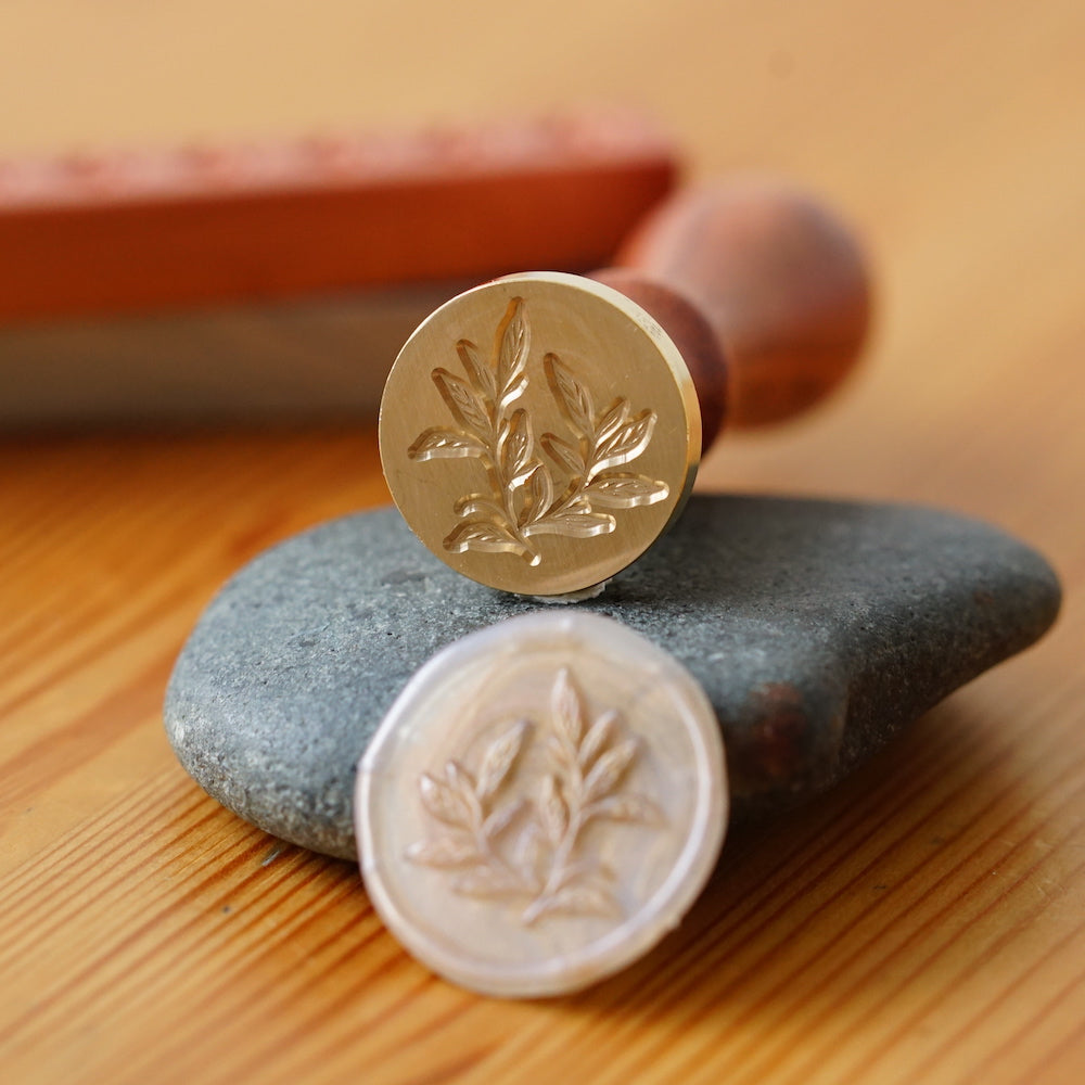 Wooden Wax Seal | Basil Leaf