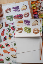 Load image into Gallery viewer, Food Watercolor Coloring Sheets