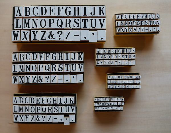 YOSOGO Peg Alphabet Rubber Stamp Set