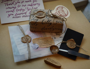 Cursive Alphabet Wax Seal // Wooden Handle