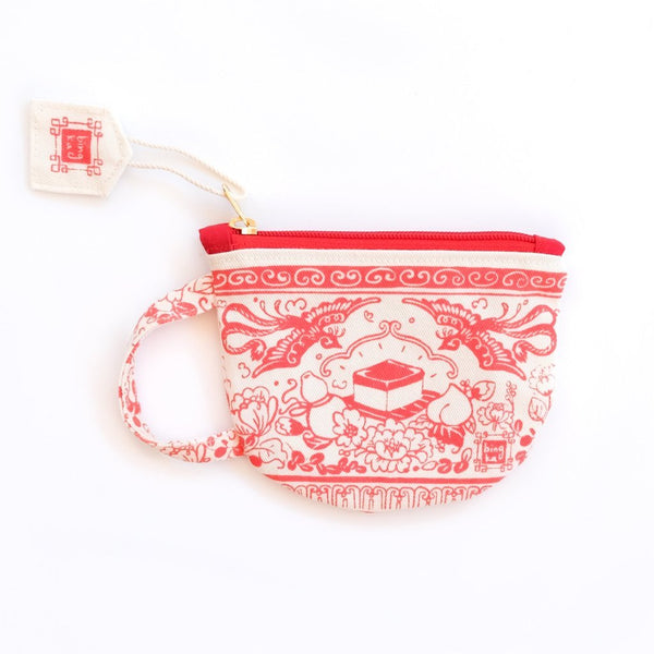 Bingka Red Tea Cup Coin Pouch