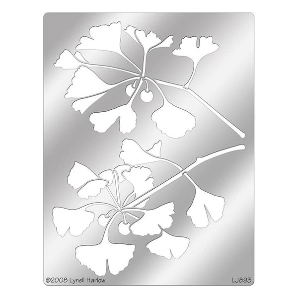 Ginkgo Bough Stencil