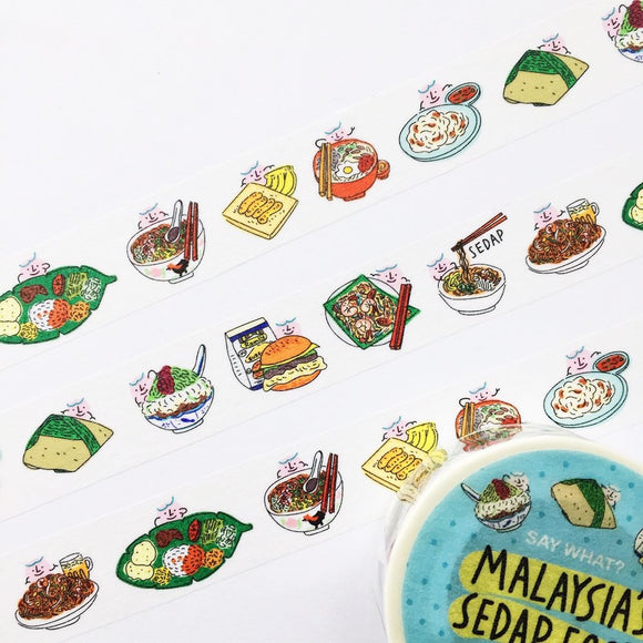 Say What? Malaysia Food Washi Tape
