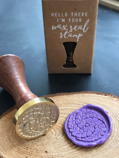 Flower Wheel Wax Seal Stamp