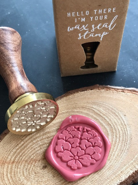 Floral Wreath Wax Seal Stamp