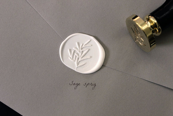 Wooden Wax Seal | Sage Sprig