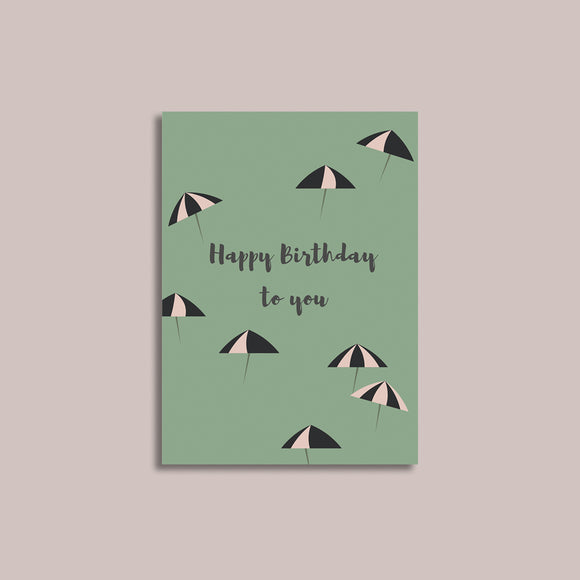 Umbrella Birthday Card