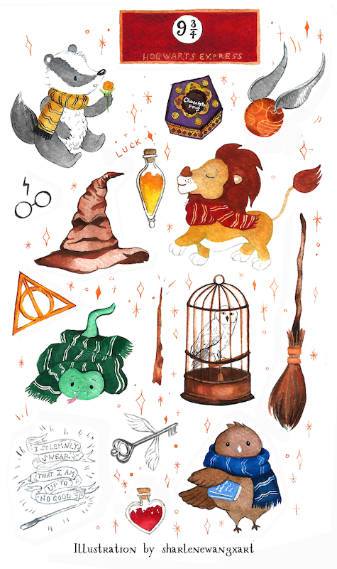 Harry Potter House Inspired Stickers