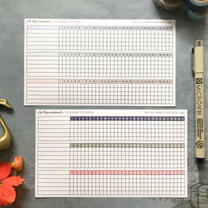 Artsunami Planner Stickers // Habit Tracker
