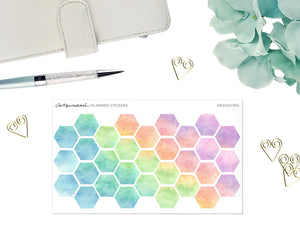 Artsunami Planner Stickers // Hexagon