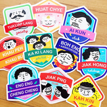 Load image into Gallery viewer, Say What? | Hokkien Lang Sticker Pack
