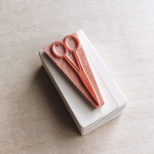 Scissor Rubber Stamp