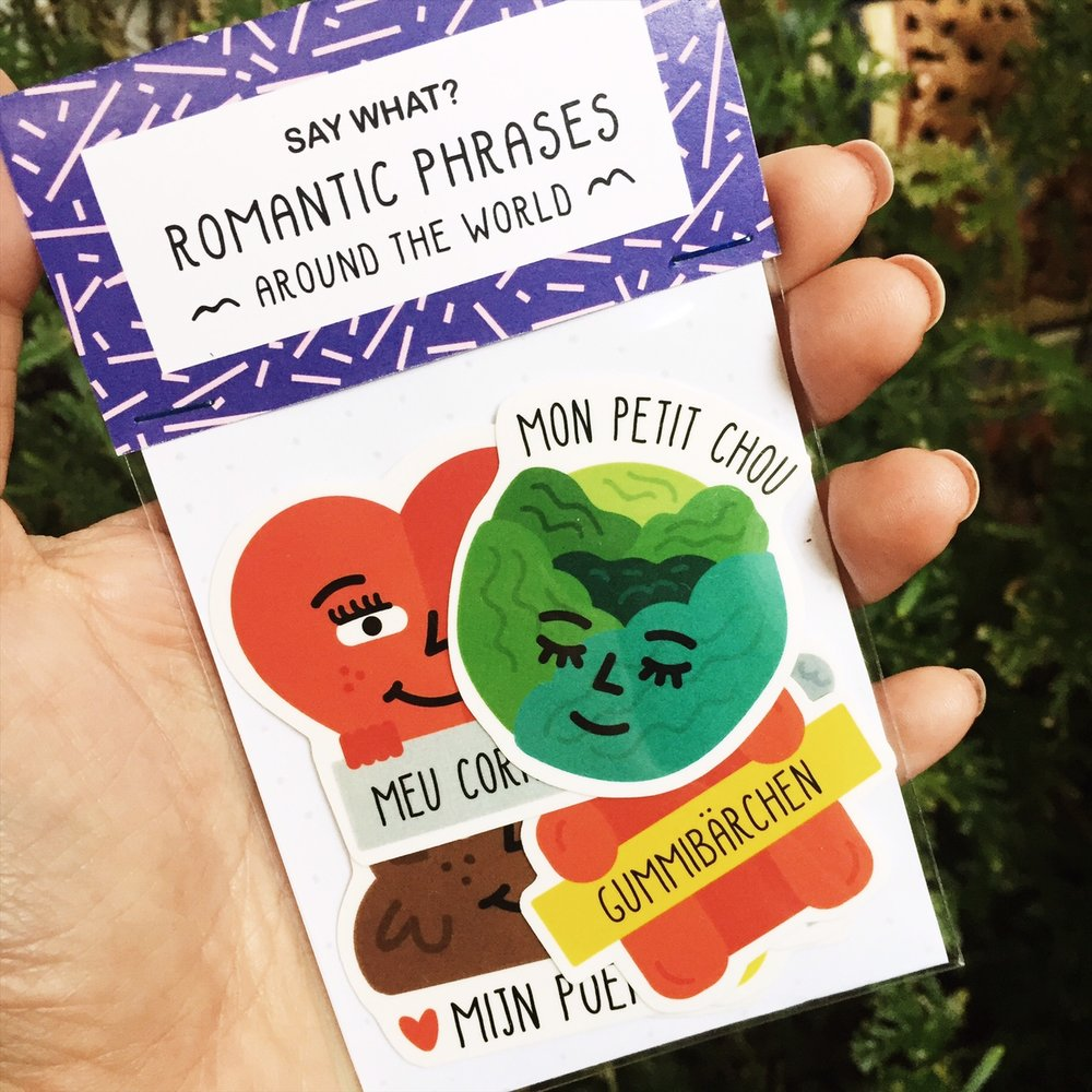 Say What? | Romantic Phrases Sticker Pack
