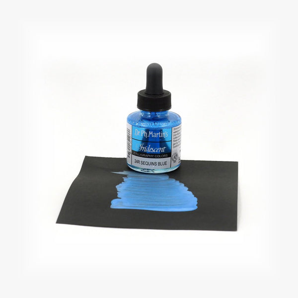 DR. PH. MARTIN'S Iridescent Calligraphy Ink // Sequins Blue