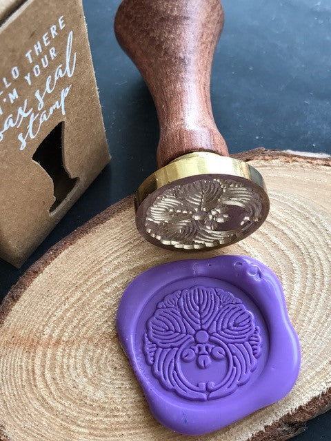 Japanese Wreath Wax Seal Stamp