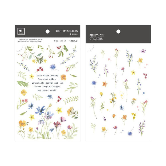 [NEW] Mu Craft Print-On Sticker // Wild Flowers