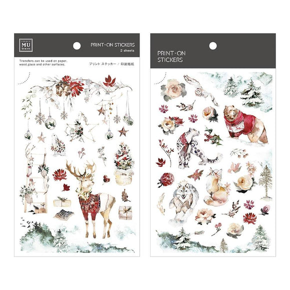 [NEW] Mu Craft Print-On Sticker // Winter Forest II