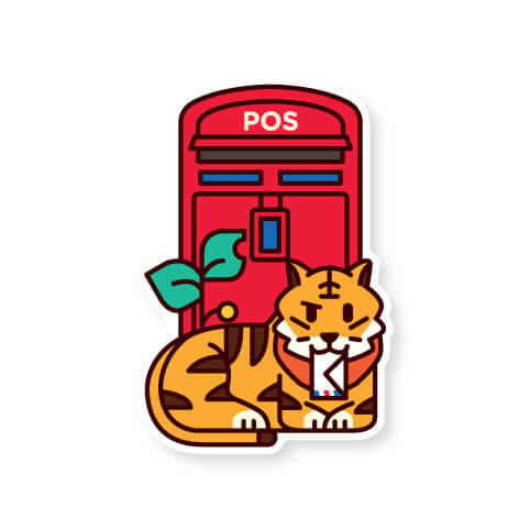 Malaysia Postbox Postcard: Tail Mail