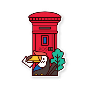 Malaysia Postbox Postcard: Hornbill with Care