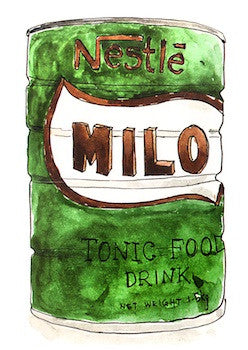 Malaysian Food | Milo Postcard  - Stickerrific