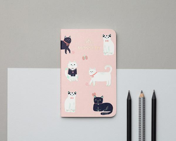 Mossery Cats Pink Pocket Notebook