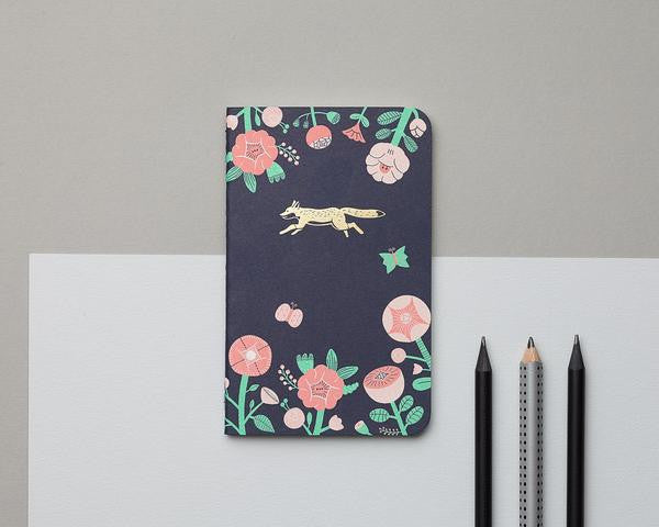Mossery Flower + Fox Emblem Pocket Notebook