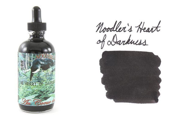 Noodler's Fountain Pen Ink // Heart of Darkness with Free Pen (Bulletproof)