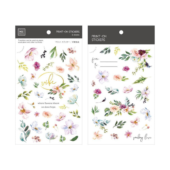 [NEW] Mu Craft Print-On Sticker // Spring Flowers