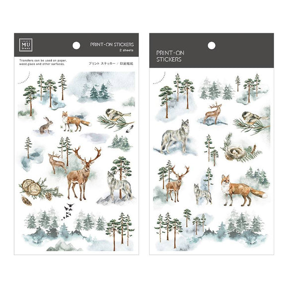 [NEW] Mu Craft Print-On Sticker // Winter Forest I