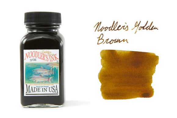 Noodler's Fountain Pen Ink // Golden Brown (Partially Bulletproof)