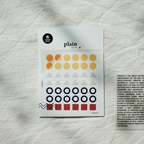 Suatelier Plain 22 Sticker Sheet
