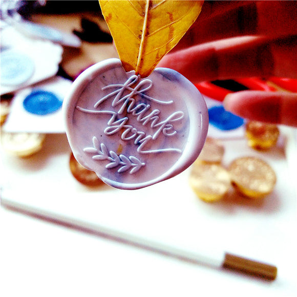 Wooden Wax Seal | Thank You