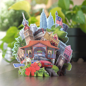 360° 3D Pop Up Card: Malaysia In The Glimpse Of Eye