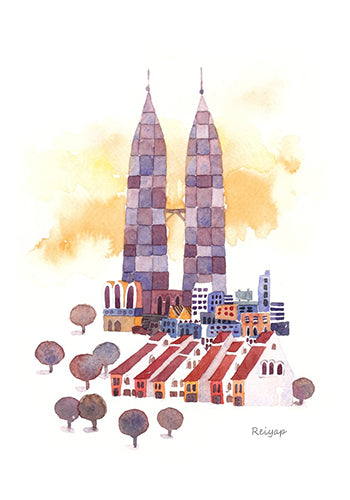 KL Watercolor Postcard / 7