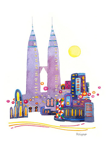 KL Watercolor Postcard / 8