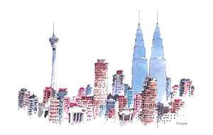 KL Skyline Postcard / 6