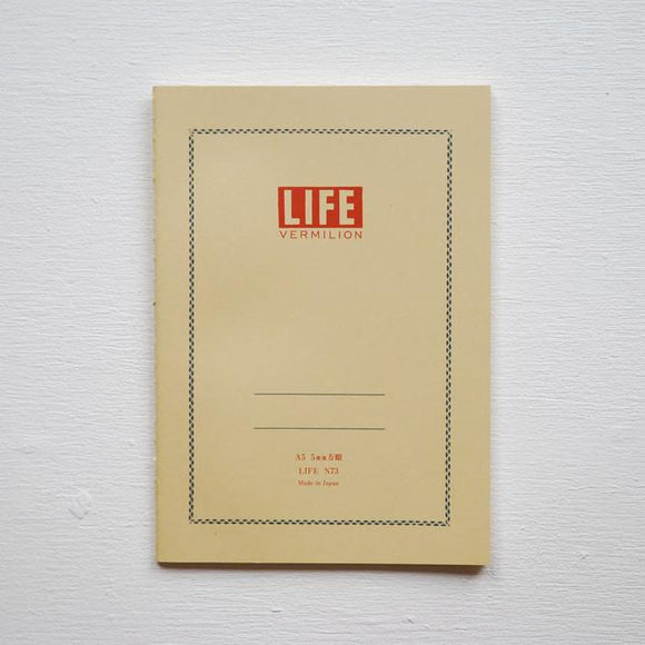 LIFE Vermilion Notebook // Grid