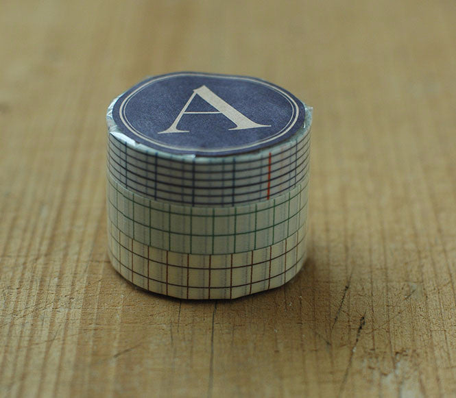 Classiky Washi Tape // Grid Set of 3 - 12mm (A)